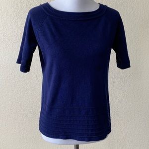 Cable and Gauge Navy Blue Top